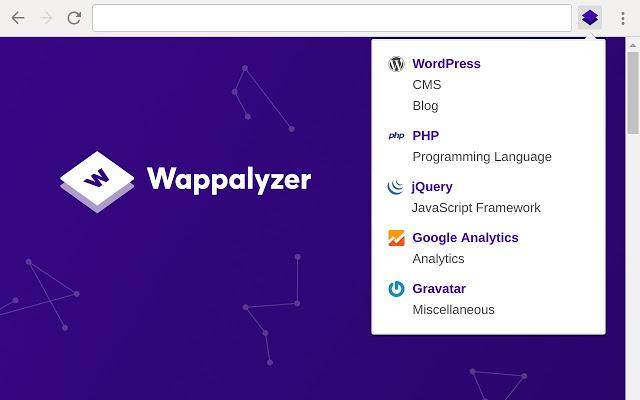 Wappalyzer - Extensions